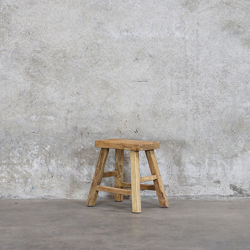 Parq Rectangle Stool -Natural