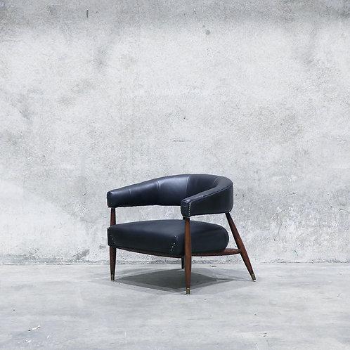 Varro Leather Armchair - Aged Black