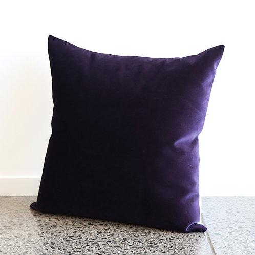 Mystere Velvet Cushion - Amethyst