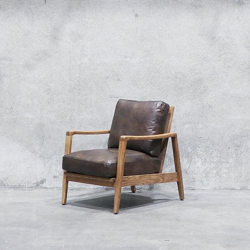 Reid Leather Armchair - Antique Brown