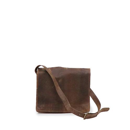 Vintage look, genuine leather satchel