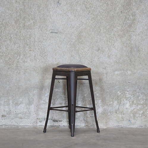 Colonial Stool, 65cm - Leather Seat