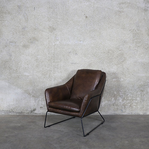 Workshop Leather Armchair - Brown