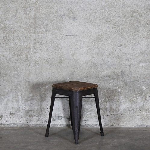 Colonial Stool, 45cm - Elm Seat