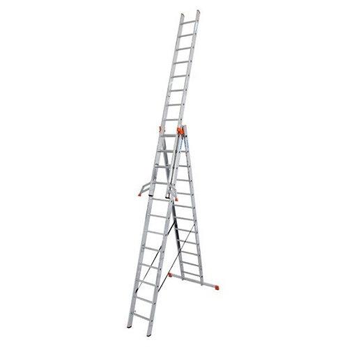 Трехсекционная лестница Krause Monto Tribilo 3×9