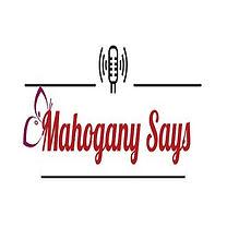 Mahogany says radio show butterfly logo.