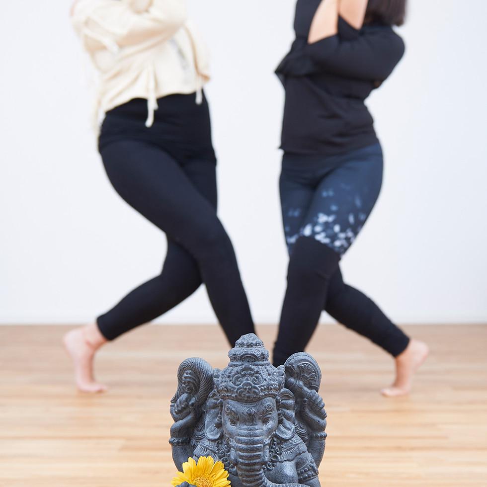 Yoga teachers Hai and Bianca