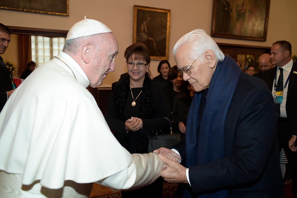Mr. Amaya, Mrs. Amaya and Pope Francis