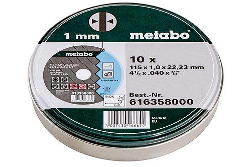 CF 10 DISCHI DA TAGLIO Ø 115 X 1 MM foro 22,23 mm