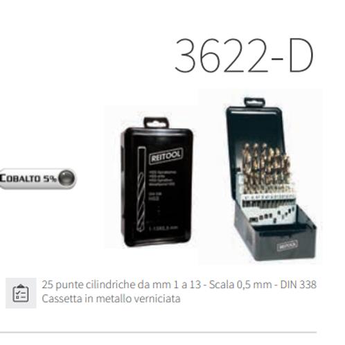 SERIE 25 PUNTE CON 5% COBALTO X METALLI 1-13 MM