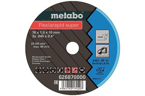 CF 3 DISCHI DA TAGLIO Ø 76 X 1 mm Specifici x acciaio inox