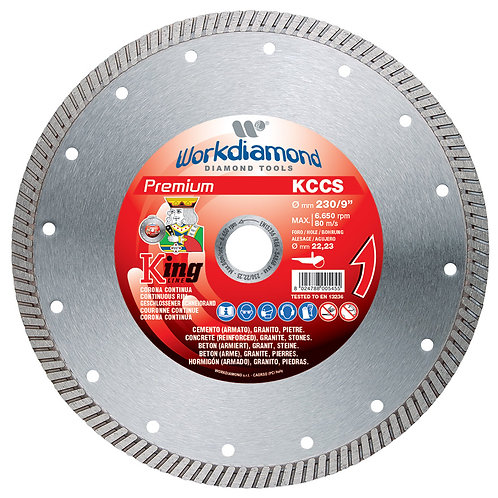 DISCO DIAMANTATO WORKDIAMOND KCCS A CORONA CONTINUA Ø 230