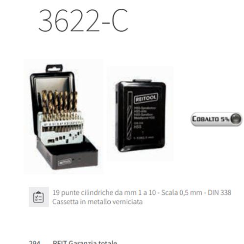 SERIE 19PUNTE CON 5% COBALTO X METALLI 1-10 MM