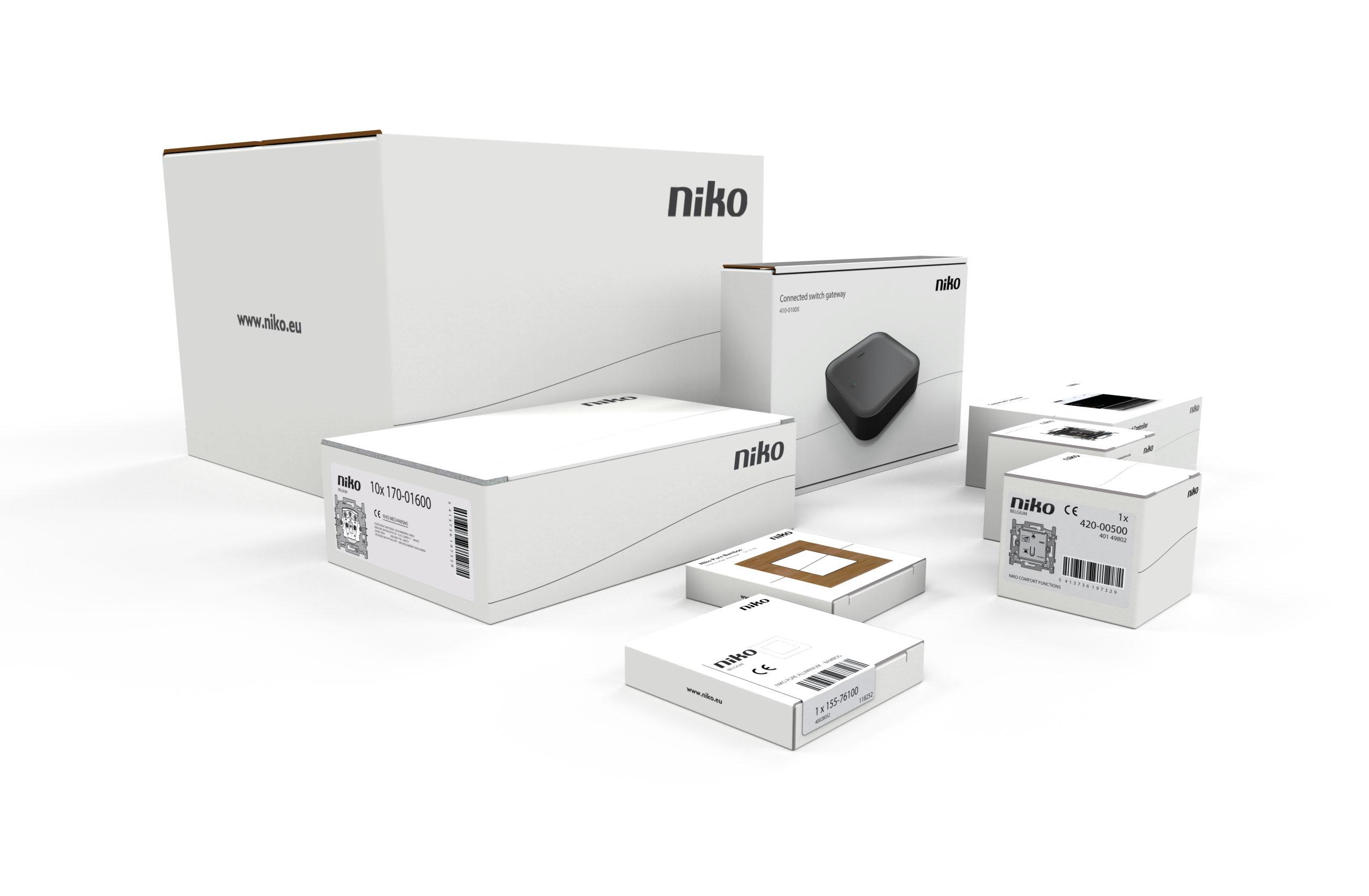 verzameling corporate packaging