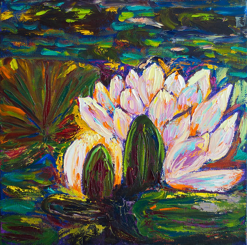 Water Lily - 12X12 (Sold)