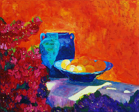 Orange Wall in Morocco - 24X30 (Sold)