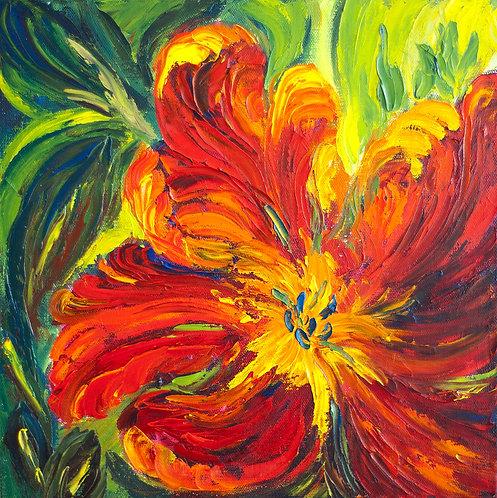Parrot Tulip - 12X12