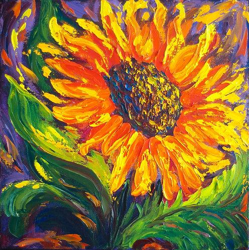 Sunflower - 12X12 (Sold)