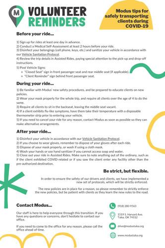 Volunteer Reminders & Tips