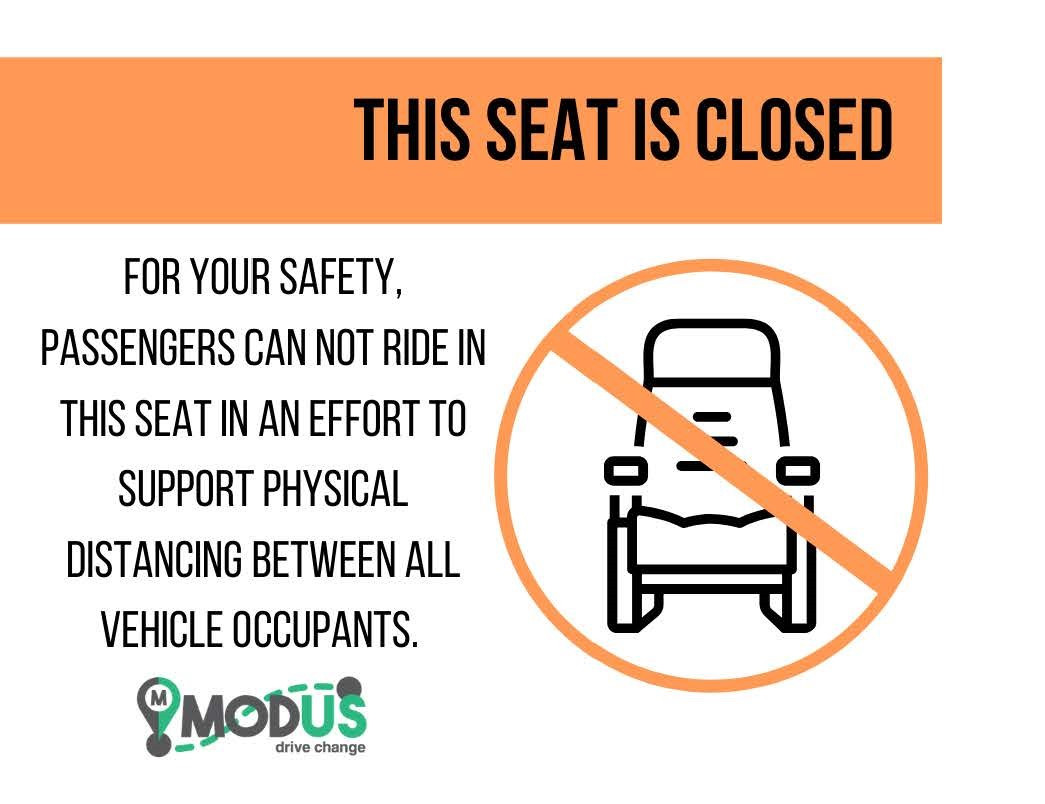 Vehicle Sign - Seat Closed