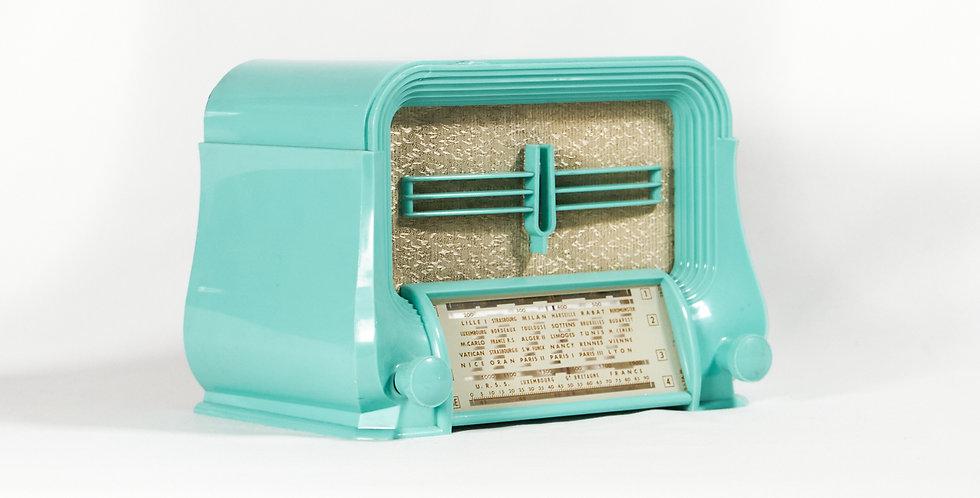 Radio Ducretet verde acqua