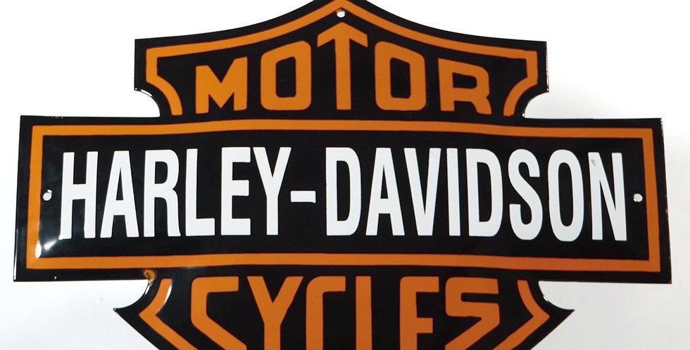 Insegna smaltata Harley Davidson