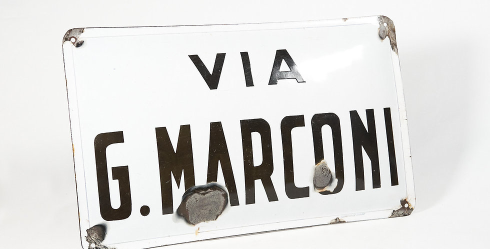 Insegna smaltata via G. Marconi