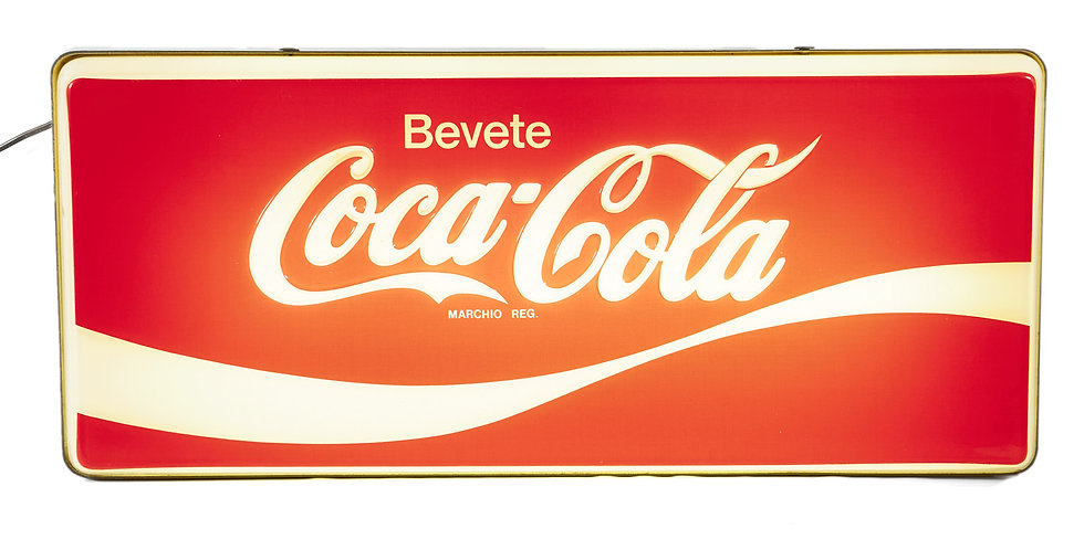 Insegna luminosa Coca Cola