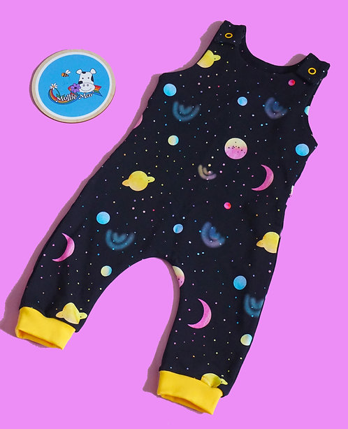 Black Space Dungarees