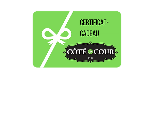 Blue Green Photography Gift Certificate.