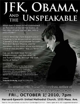 """An Evening with James Douglass, Author of """"JFK and the Unspeakable"""