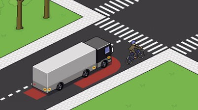 Papa brengt vrachtwagen naar school