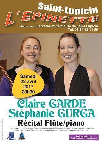 Stephanie Gurga Saint Lupicin L'epinette Recital