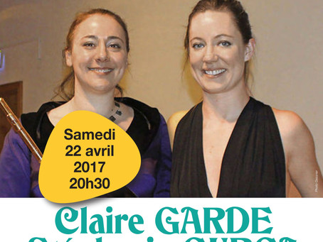 Works for Flute and Piano, Recital with Claire Garde and Stephanie Gurga