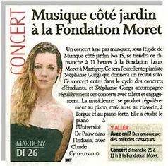 Stephanie Gurga Concert Fondation Moret