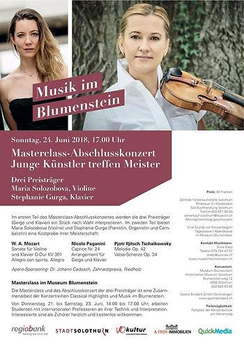 Musik im Blumenstein Stephanie Gura Mozart Paganini Tschaikowsky