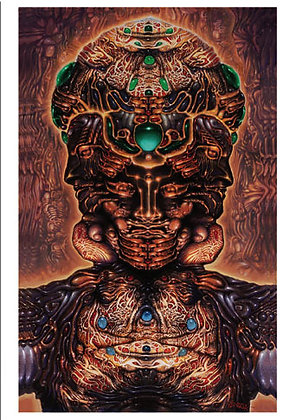 RV Art/Note Card - Hallucinogenic Self-Portrait