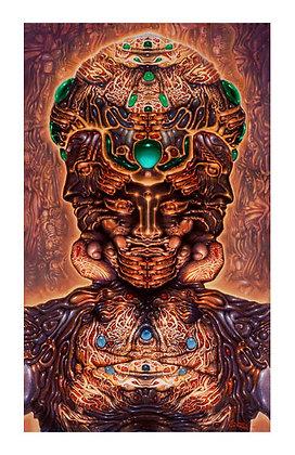 Mini Print - Halucinogenic Self-Portrait, R. Venosa