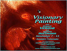 Visionary painting workshop withMartina Hoffmann and Robert Venosa in Boulder, Colorda USA.