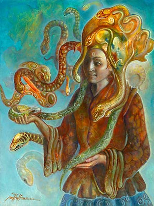 MH Limited Edition Print on Canvas - SNAKE CHARMER
