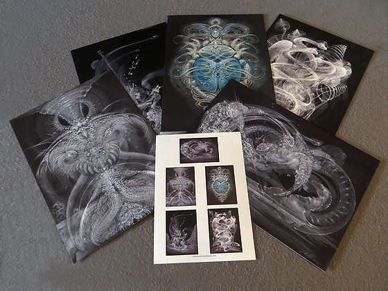 MH - NEW- Large Art Cards - Set #5 - Selection of 5 images