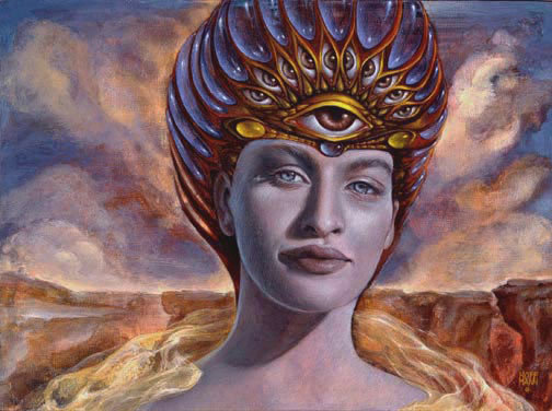 MH Limited Edition Print on Canvas - MUSE OF CONSCIOUS AWAKENING