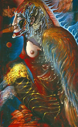 MH Limited Edition Print on Canvas - MOTHERANGEL & CHILD