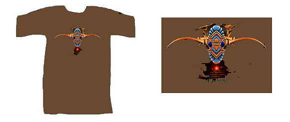 MH Men's T-Shirt, brown - 'The Cusp'