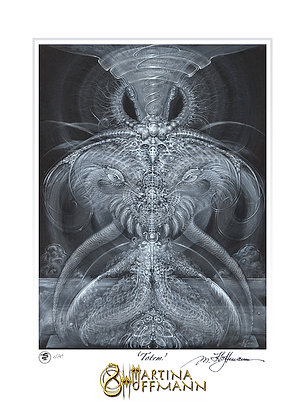 MH Digigraphie, Limited Edition Fine Art Print on Paper, medium size - TOTEM