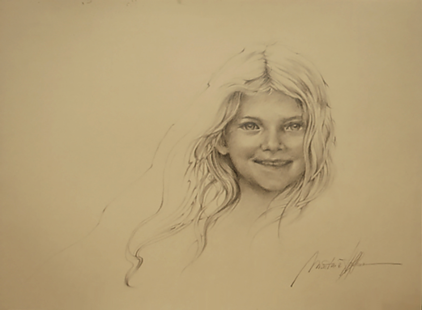Portrait scetch Of Sophia_web