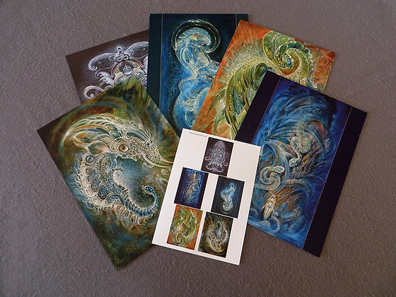 MH - NEW- Large Art Cards - Set #4 - Selection of 5 images