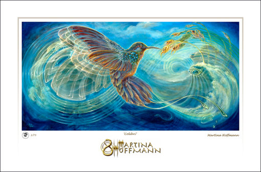 MH Digigraphie, Limited Edition Print on Paper, large size - COLIBRI