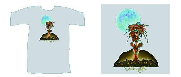 RV Men's T-Shirt, grey - 'Moonflower'
