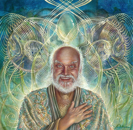 MH Limited Edition Giclee Print on Paper - PORTRAIT OF RAM DASS